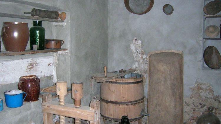 Altertümliche Küche.