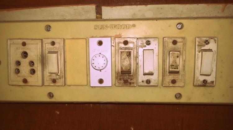 Dreckiger Lichtschalter