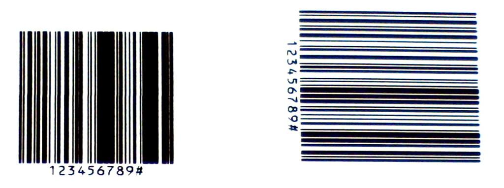 Der linke Barcode im Leiterdruck ist nicht mehr richtig scannbar.