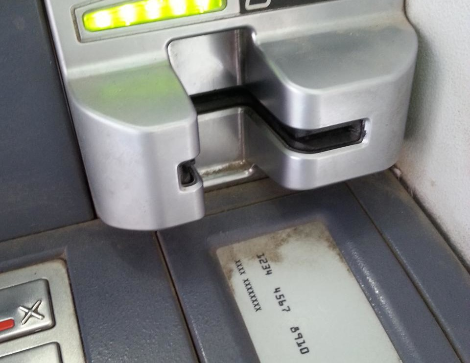 Geldautomat ohne Einzug